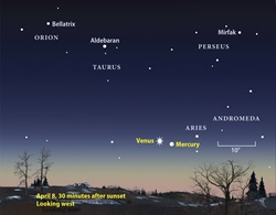 April 2010 Venus finder chart