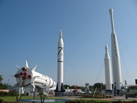 Rocket garden at the Kennedy Space Center Visitor Center