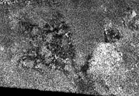 "Titan's radar image ""Si-Si the Cat"""