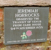 Plaque at Carr House