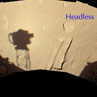 Mars Phoenix lander Headless rock